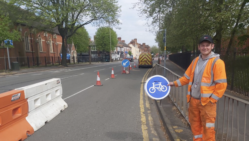 Leicesters Pop-Up Cycleway