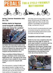 Pedals newsletter spring summer 2021